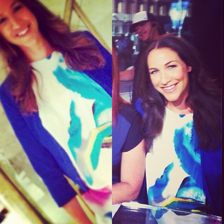 The threads and style team dressed Elka Whalan in our Talulah we danced 100% silk top in watercolour print for her on air visit on Channel 7's Sunrise. Shop the top now at www.threadsandstyle.com.au.