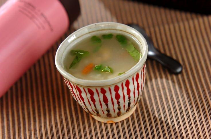鍋いらず!材料を入れるだけで出来る、美味しい中華粥!ホタテと干しエビの中華粥[中華/米料理(チャーハン等)]2015.12.30公開のレシピです。