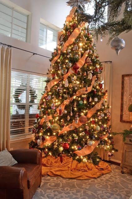 orange christmas tree decorations - Google Search