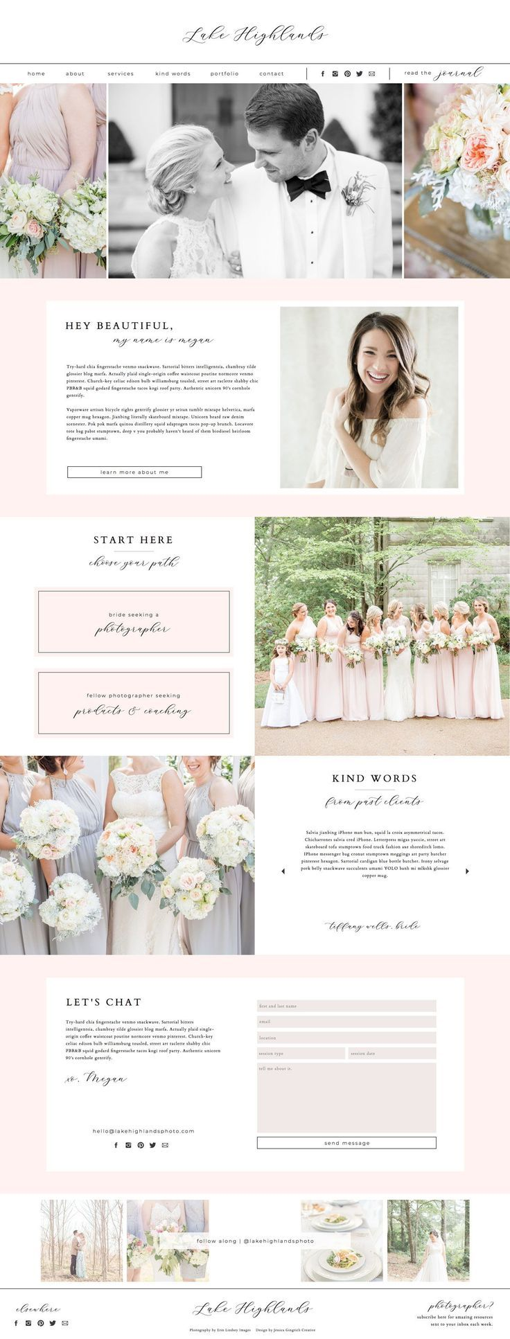 Lake Highlands | Showit Template For Creative ...