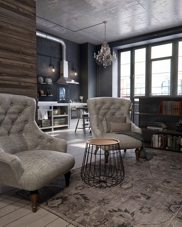 Dark and moody studio in Moscow by INT2 Architecture