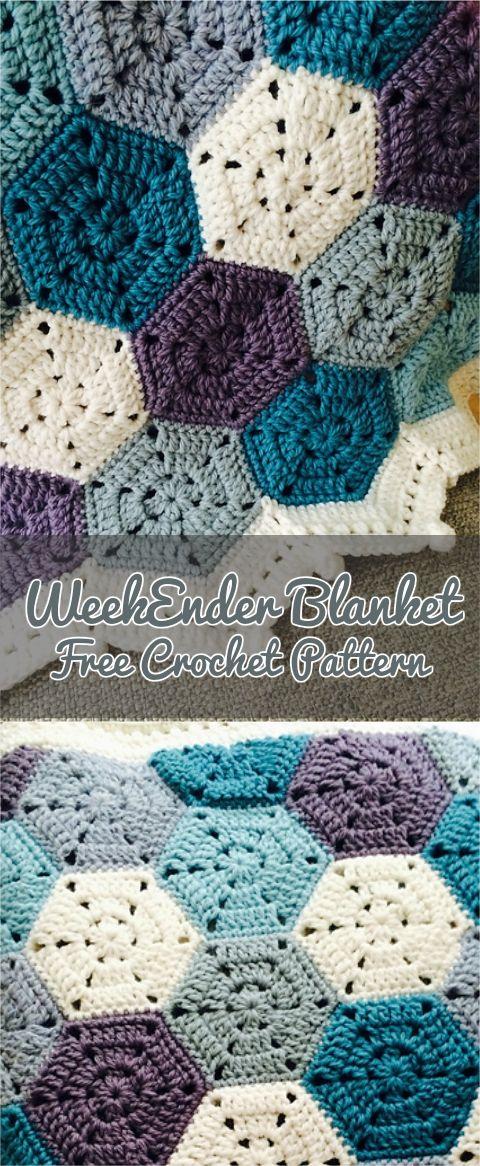 WeekEnder Blanket Free Crochet Pattern