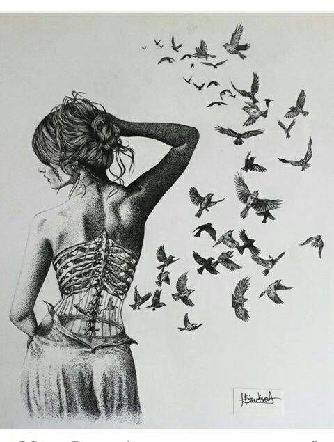 Imagen de art, bird, and drawing