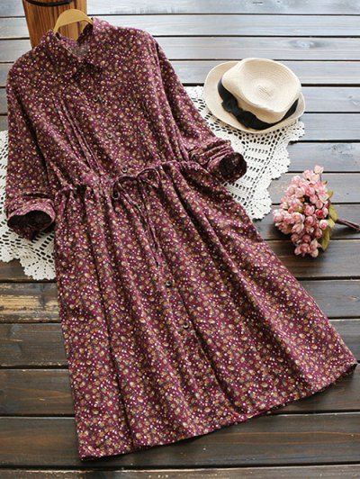 SHARE & Get it FREE   Tiny Floral Drawstring Shirt DressFor Fashion Lovers only:80,000+ Items • New Arrivals Daily Join Zaful: Get YOUR $50 NOW!