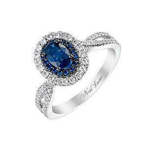 Neil Lane 14ct white gold 0.35ct sapphire and diamond ring http://www.weddingheart.co.uk/ernest-jones---engagement-ring.html