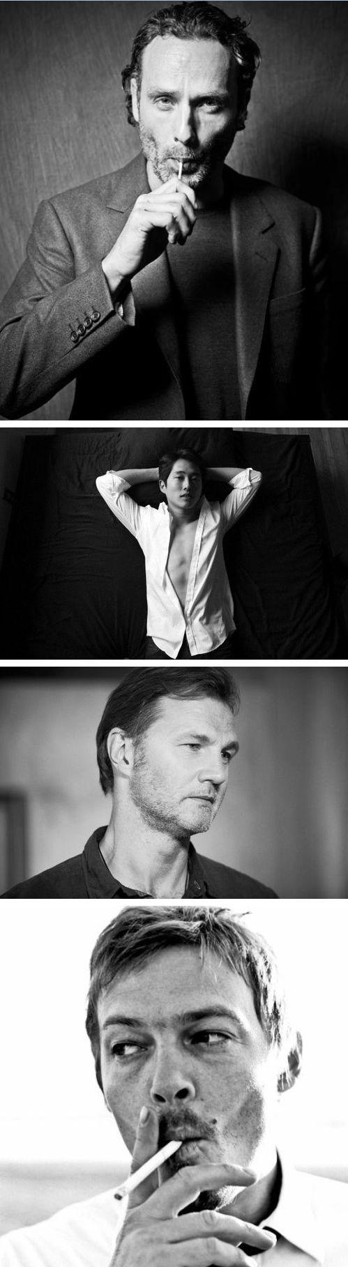 Andrew Lincoln, Steven Yeun, David Morrissey, & Norman Reedus