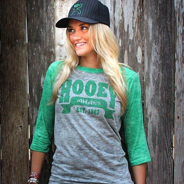 Hooey Online Store - Big League Womens Baseball -Green, $35.00 (http://store.getyourhooey.com/big-league-womens-baseball-green/)