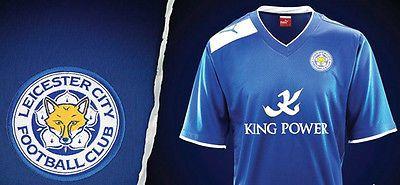 LEICESTER CITY FC (XL) BLUE/WHITE 2012/13 S/S PUMA FOOTBALL SOCCER SHIRT JERSEY