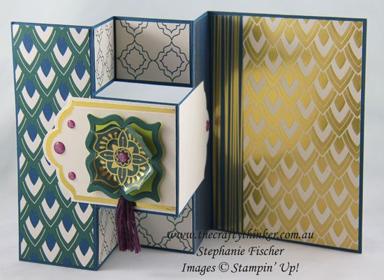 www.thecraftythinker.com.au, Annual Catalogue Sneak Peek, Eastern Beauty Suite, Trifold card, Fun Fold, #thecraftythinker, Stampin Up