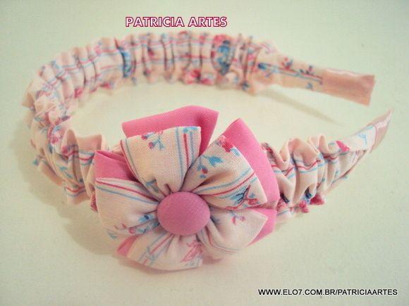 Tiara de tecido franzida
