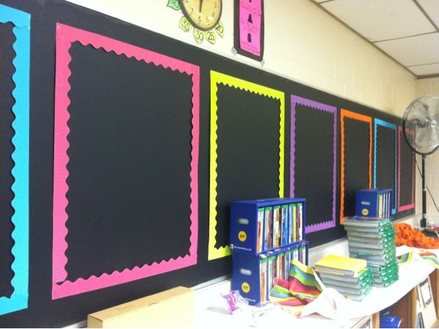 Frames for anchor charts. Create a space in your room at the beginning of the year for your anchor charts to hang throughout the school year!