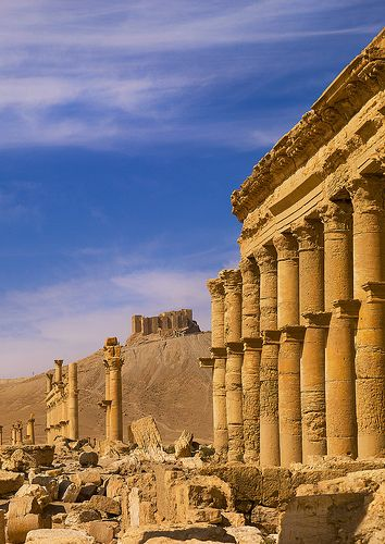 The Ancient Roman city of Palmyra, Syria--This world is really awesome. The woman who make our chocolate think you're awesome, too. Our chocolate is organic and fair trade and full of amazing flavor. We're Peruvian Chocolate. Order some today on Amazon! Woman owned! http://www.amazon.com/gp/product/B00725K254