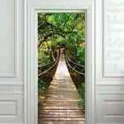 "GIANT Door STICKER rope bridge tropic forest decole film poster 31x79""(80x200cm)"