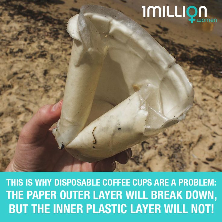 Disposable coffee cups (even the paper kind) often have a plastic layer that makes the unrecyclable. So here's what you can do.
