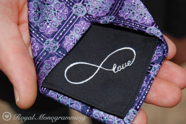 Love Wedding Tie Patch Monogrammed for Father of the Bride, Groom, and/ or Groomsmen! FREE GIFT CASES!! Custom Embroidered Wedding Gift by RoyalMonogramming on Etsy https://www.etsy.com/listing/216399526/love-wedding-tie-patch-monogrammed-for