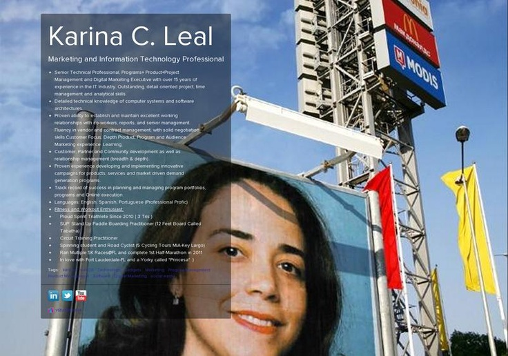 Karina C.  Leal's page on about.me – http://about.me/KarinaLeal