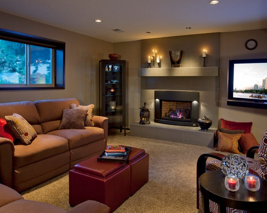 Designs Design Ideas Fireplaces Basements Design Home Theatres Modern