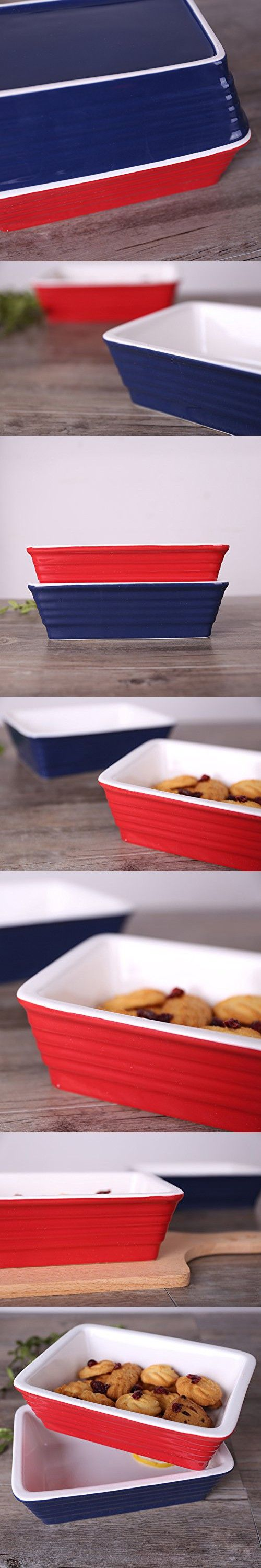 """Chef's Classic Enameled Roasting and Lasagna Pan, 650ml, 7.6"""" (Blue)"""