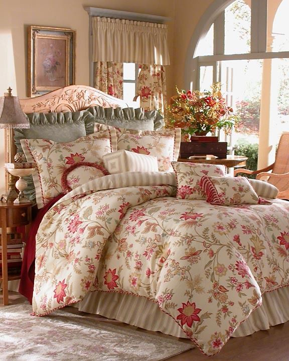 liven up your bedroom with this lovely rose tree comforter set a stunning floral pattern and thin stripe combine with a stunning green embroidered fabric