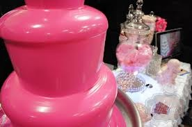 Pink Chocolate Fountain - by: Cynthia's Creations Chocolate