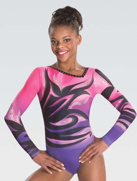 1a1391339 STYLE  Breathtaking asymmetrical long-sleeve gymnastics leotard ...