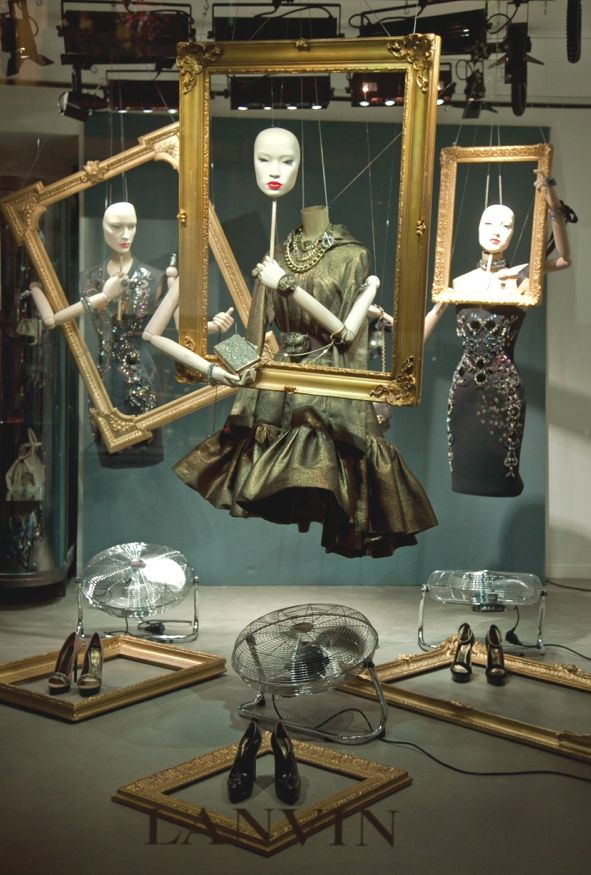 ♂ Commercial retail design Lanvin widow display