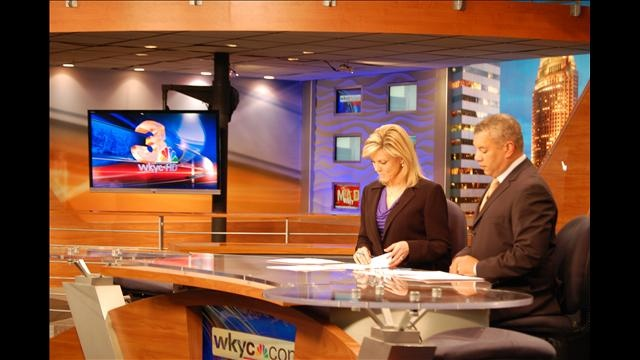 4/3/12 - It's the Pickel and Mitchel show!  New anchor #KrisPickel joins the Channel 3 News team for the first time.  Her she is with #JimmyDonovan, #RussMitchell and #BetsyKling. Click the pic to see more shots from her first day on air.
