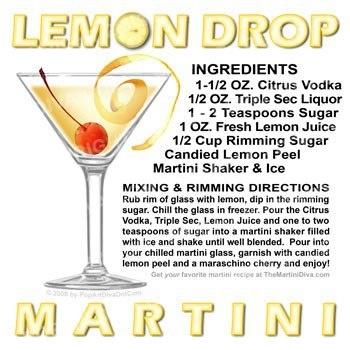 Lemon Drop Martini .  One of my favorites.