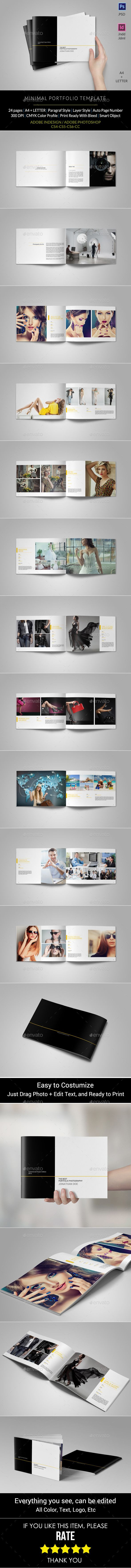 Minimal Portfolio Brochure Template #design Download: http://graphicriver.net/item/minimal-portfolio/11350344?ref=ksioks