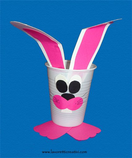 Easter Crafts for Kids - Bunny Cup