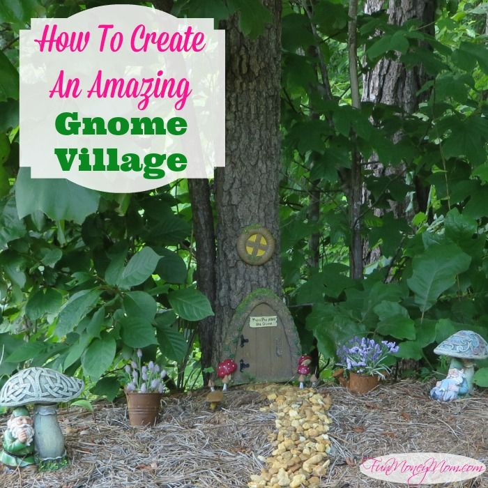 How to Create an Amazing Gnome Village by Fun Money Mom.  A cute little gnome village to add some character to your garden.