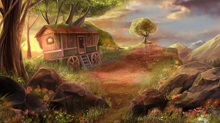 Gypsy Wagon Art   Gypsy Wagon by ~handsky228 on deviantART ...