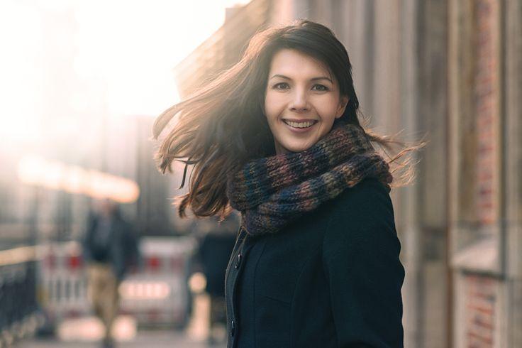 Autumn scarf coat