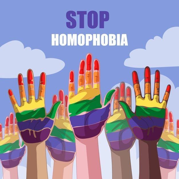 Detener el concepto de homofobia | Free Vector #Freepik #freevector #amor #arco-iris #colorido #apoyo Art Therapy, Tatoos, Pride, Rainbow, Colours, Illustration, Vector Freepik, Instagram, Posters
