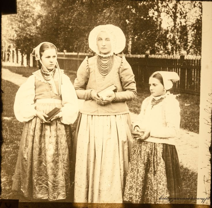 Regional costumes from Kalisz, Poland, late 19th century