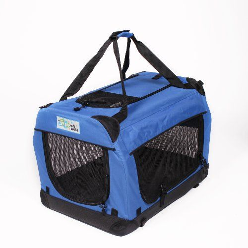 GoGo XX-Small Soft Crate 19.5'L x 13.5'W x 13.75'H Royal Blue *** Additional details at the pin image, click it  : Crates, Houses and Pens for dogs