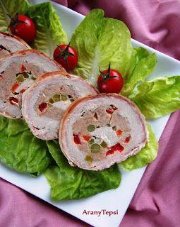 AranyTepsi: Zöldséges hússal töltött karajtekercs