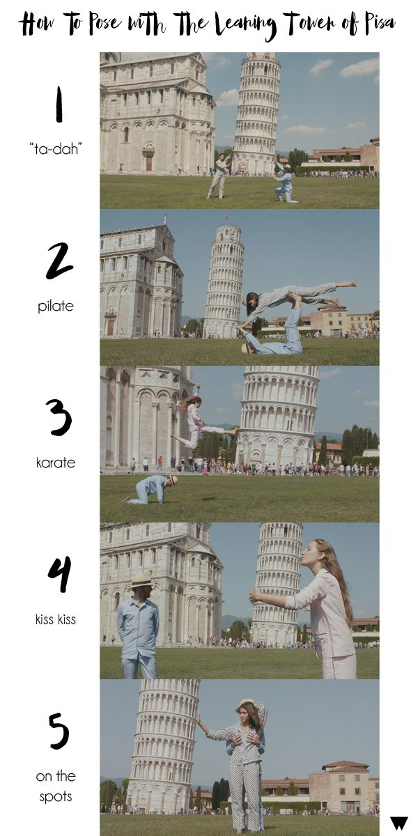 5 Unconventional Ways To Pose With The Leaning Tower of Pisa #Italy #travel