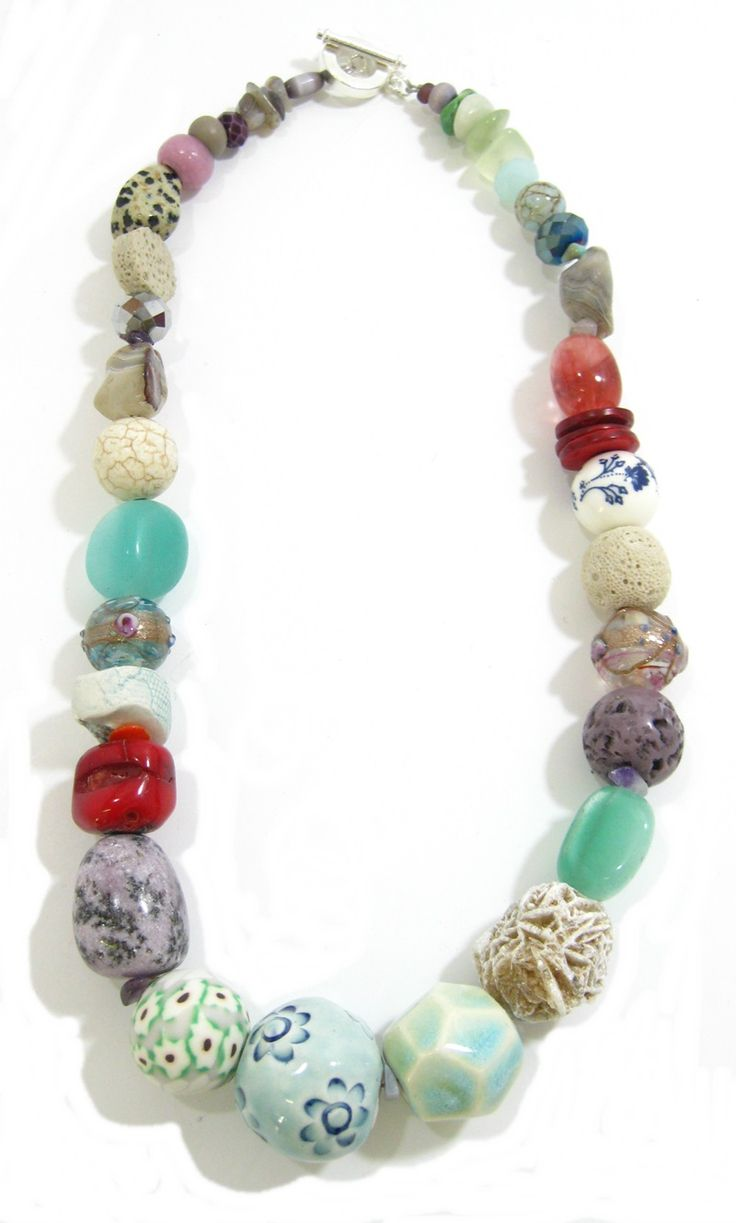 Beautiful Handmade ceramic beads and semi-precious stones from Marzipan Jewellery. www.marzipan.co.za