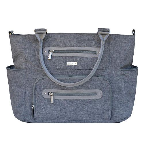 JJ Cole Caprice Diaper Bag in Gray Heather... Stylish and affordable...