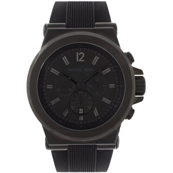 Michael Kors Oversized Dylan Silicone Chronograph Watch MK8152 (28620 RSD) ❤ liked on Polyvore featuring men's fashion, men's jewelry, men's watches, black, mens chronograph watches, michael kors mens watches, mens silicone watches and mens oversized watches