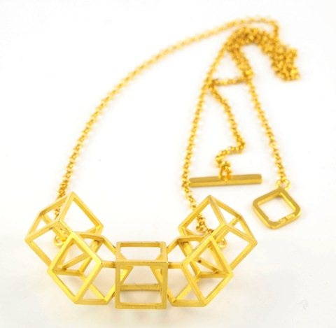 Cube Necklace by Stone Glint and Bone