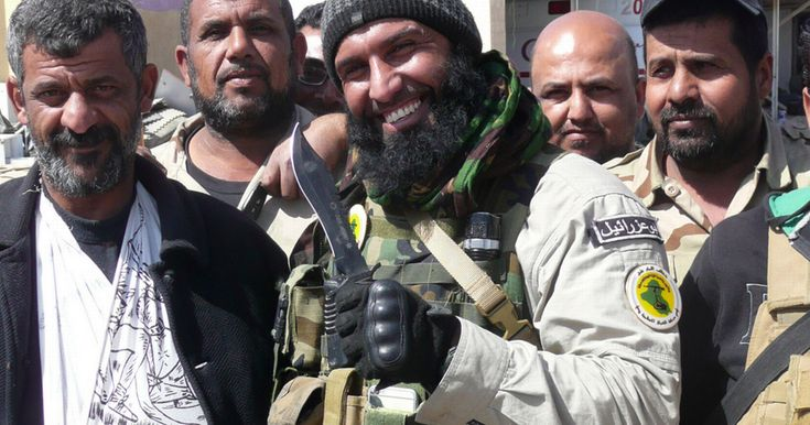 WARNING: GRAPHIC CONTENT - Footage released online shows fearsome Abu Azrael, one of ISIS' most feared enemies and a poster boy for Shi'a militias, committed the sickening act as a warning to his enemies