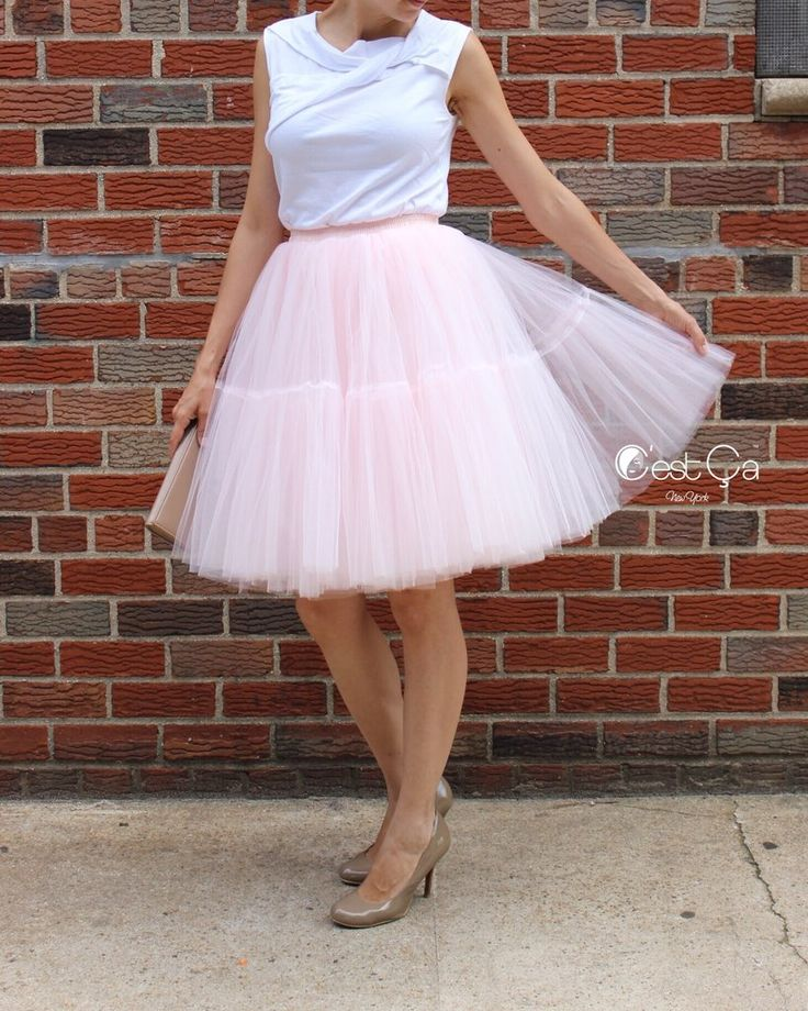 Beatrice Blush Pink Tulle Skirt - Midi