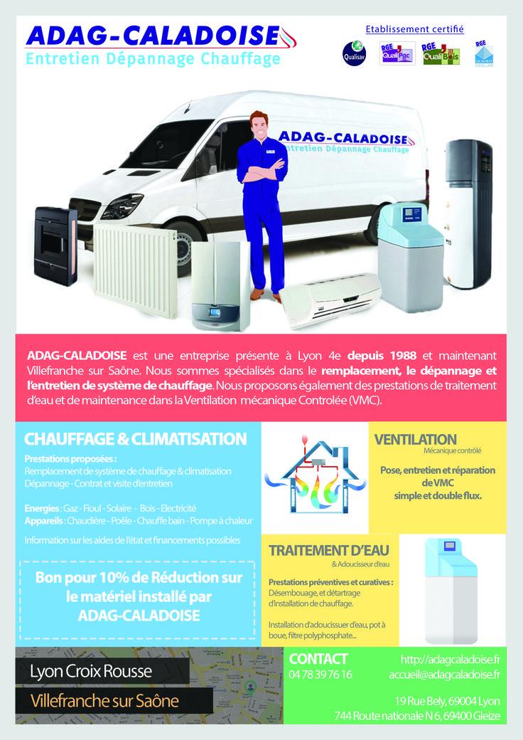 Flyer créé pour l'agence adag-caladoise pour la promotion de ses services