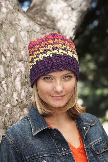 Free Pattern: Houndstooth Pattern Hat