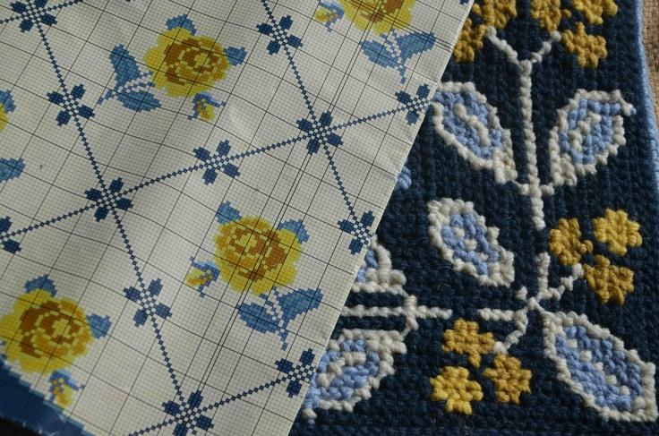 Arraiolos tapestry, made with Rosários 4 yarns.