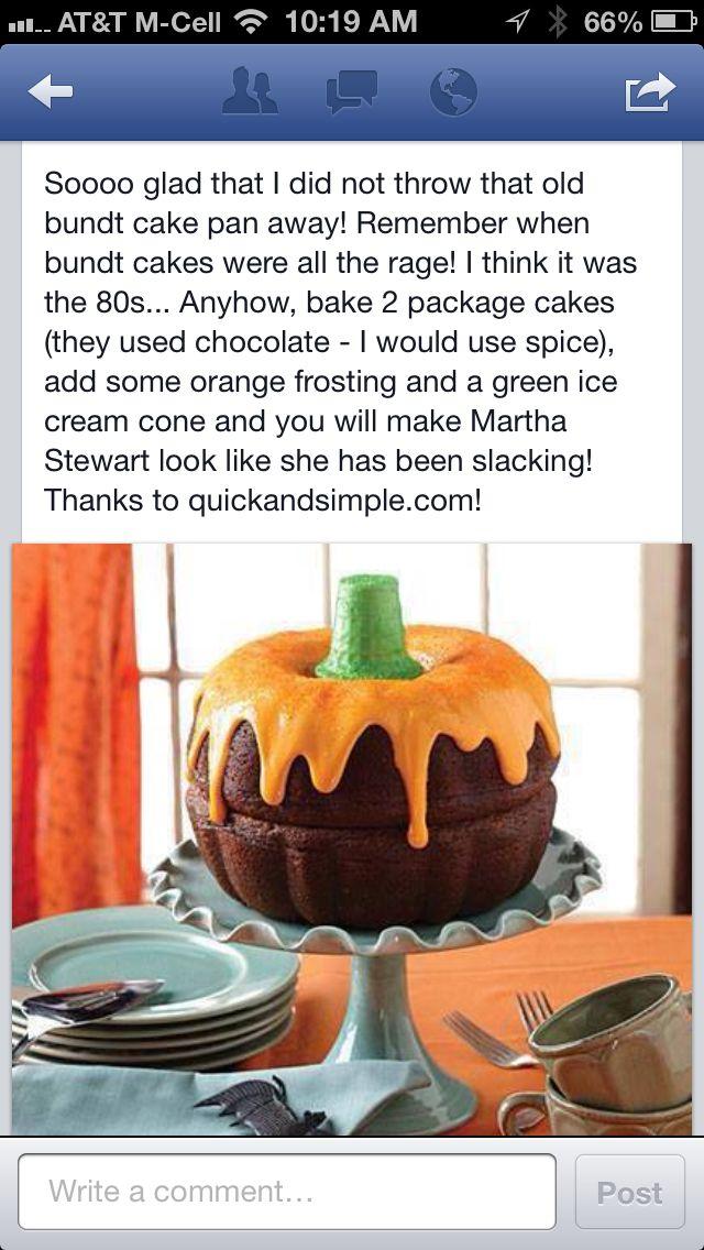 Pumpkin decorated cake