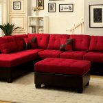 With Storage Red Ottoman Coffee Table And Sectional Sofa