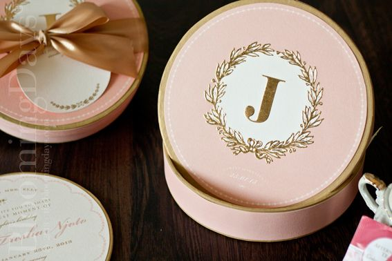 macaroon lovers invitation